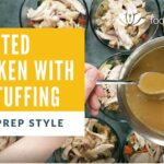 roasted chicken with gluten free and dairy free stuffing