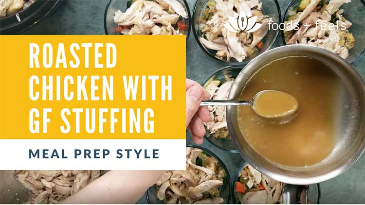 Roasted chicken with gluten free stuffing recipe