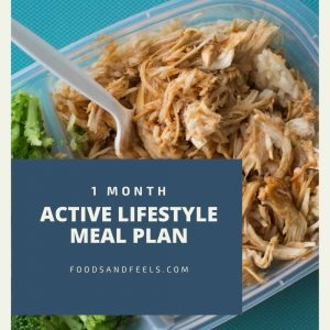 1 month active lifestyle meal plan
