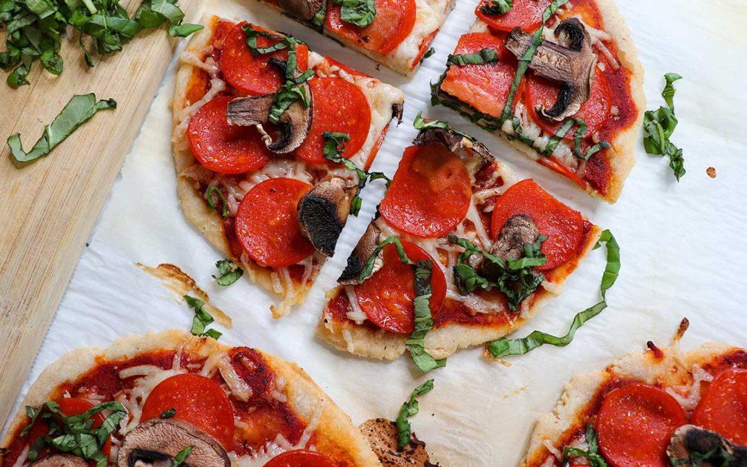 Gluten free dairy free pepperoni mushroom pizza recipe