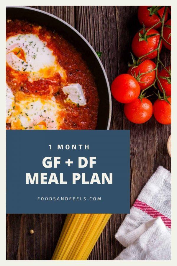 1 month gluten-free dairy free meal plan