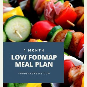 1 month low FODMAP meal plan