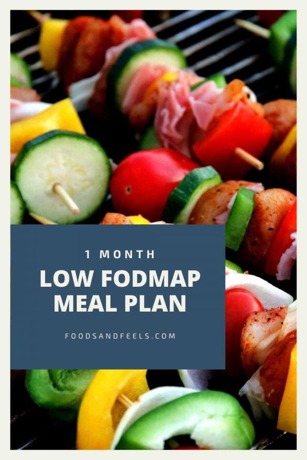 1 month low FODMAP meal plan