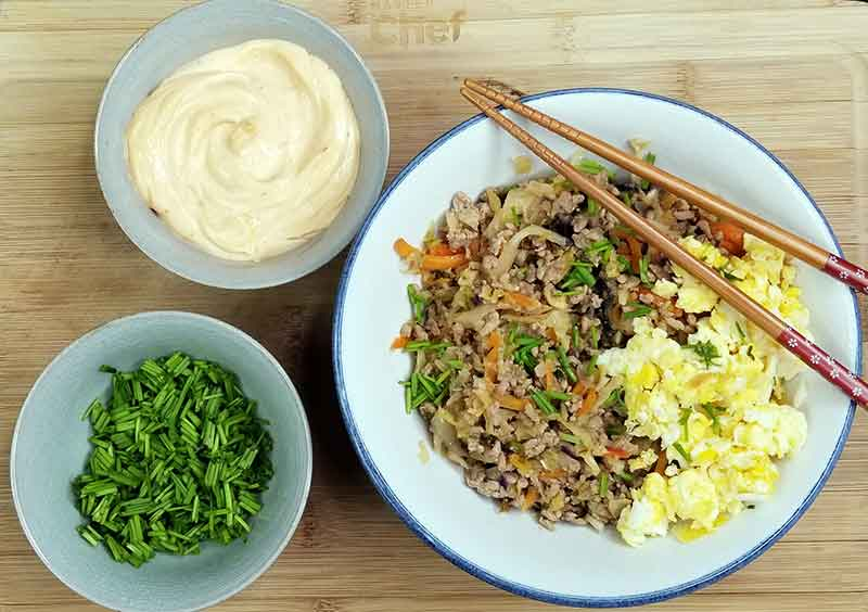 Paleo egg roll in a bowl recipe