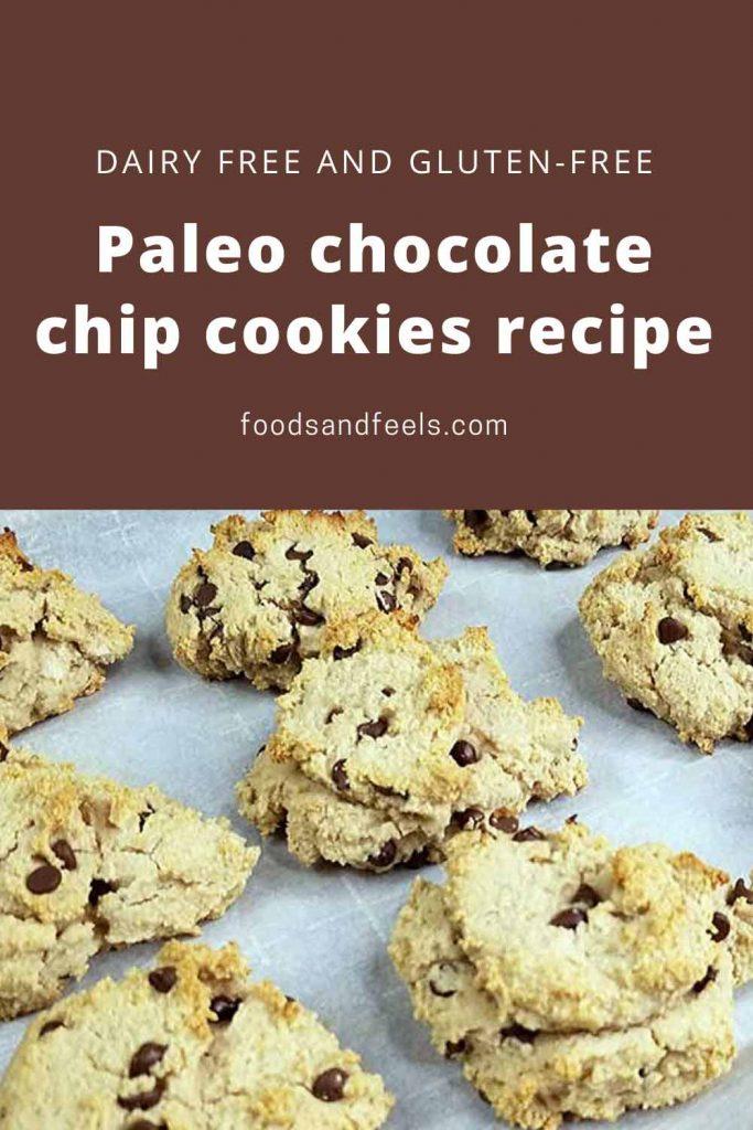 Paleo chocolate chip cookies recipe with cassava flour
