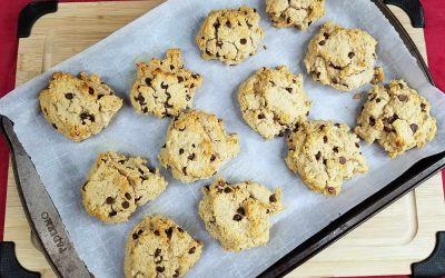 Paleo chocolate chip cookies recipe with cassava flour