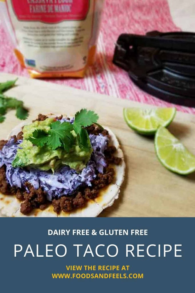 Paleo taco recipe with homemade guacamole