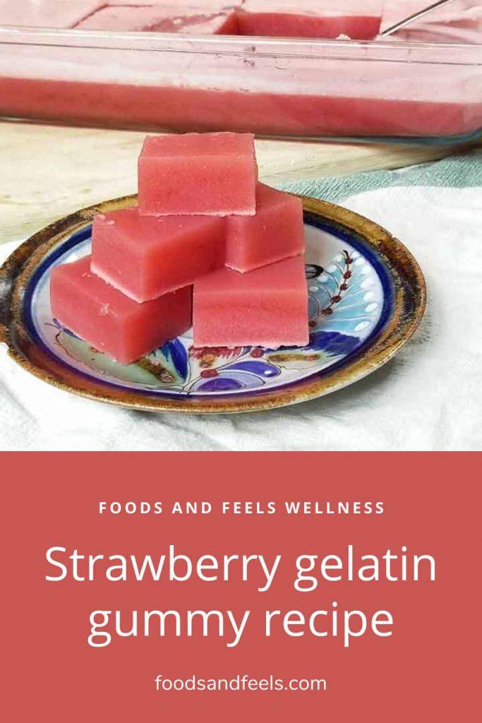 Healthy strawberry gelatin gummy recipe