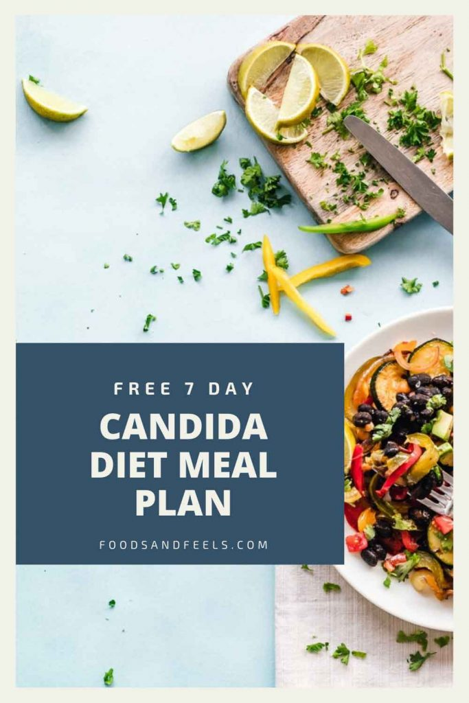 cover of free 7 day candida diet meal plan