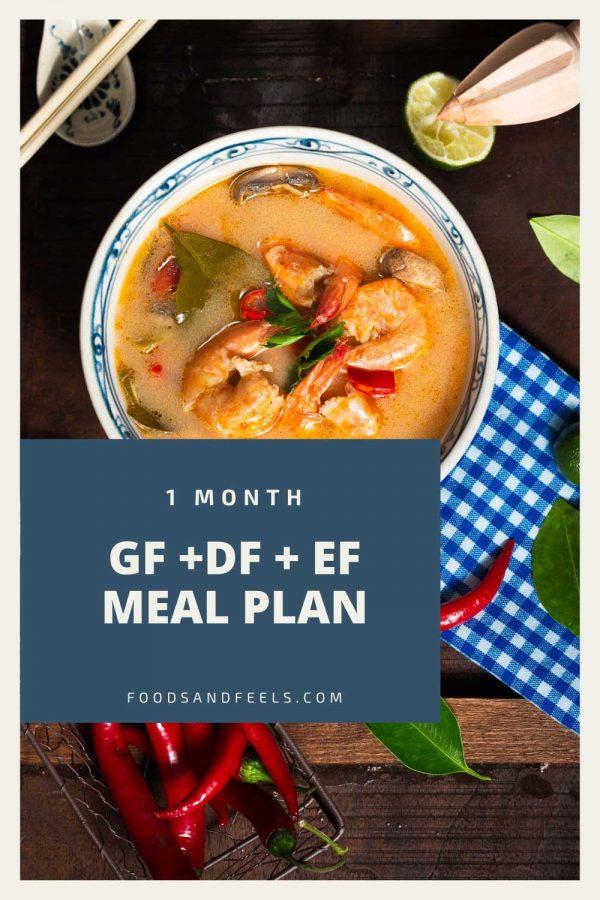 1 month gluten free dairy free egg free meal plan