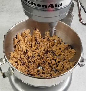 mixed dough with chocolate chips