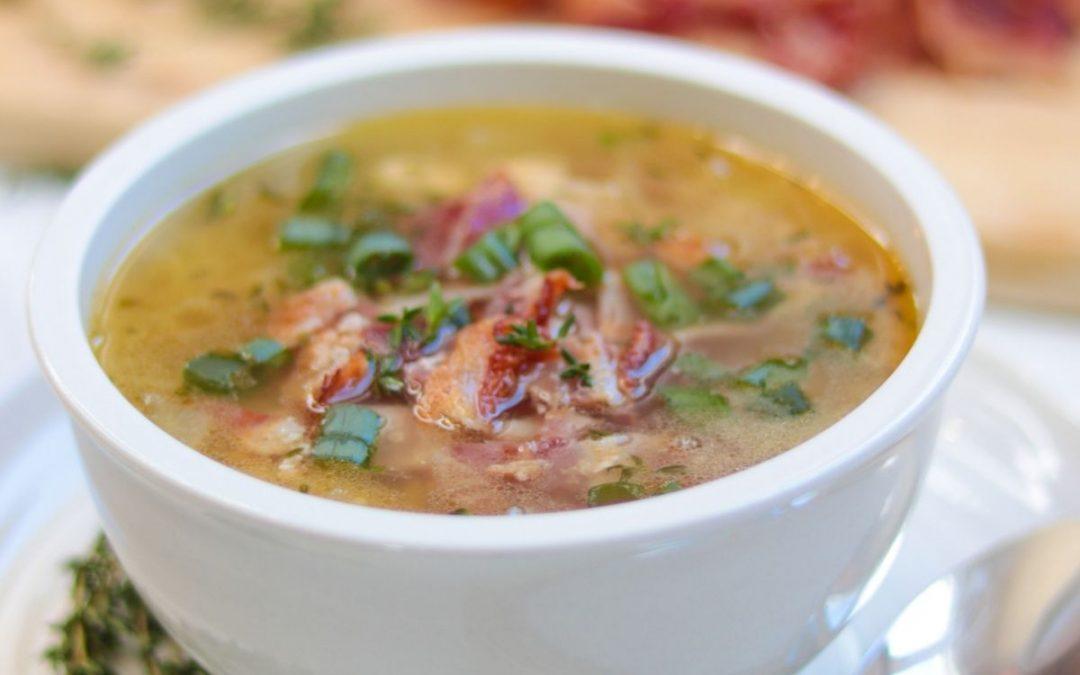 Keto chicken bacon soup recipe