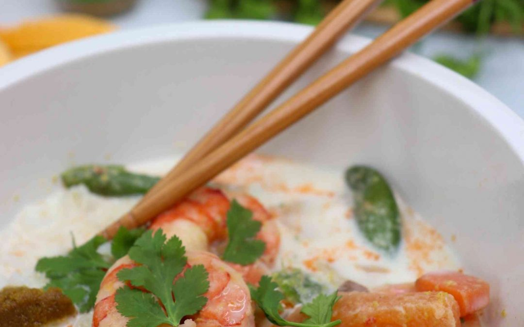 Thai green curry with shrimp (gluten & dairy free)