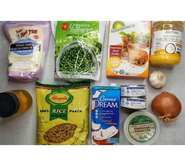 gluten-free-dairy-free-tuna-casserole-ingredients