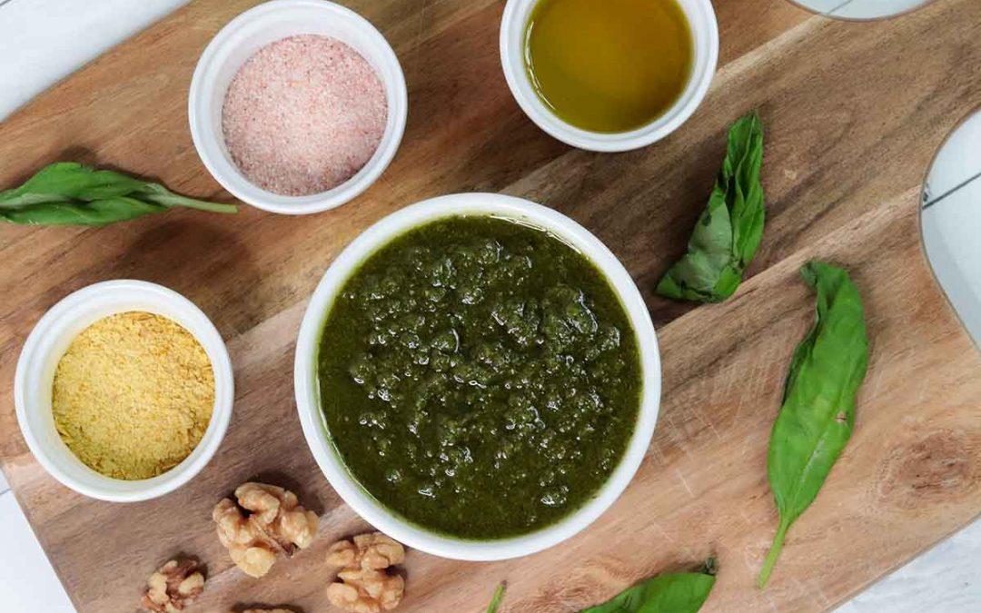 Basil walnut pesto recipe (vegan)